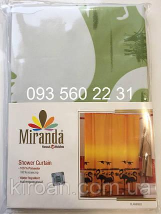 Шторка для ванной MIRANDA фламинго, зеленый, фото 2