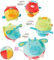 BabyFehn Обучающая игрушка BabyFehn Мяч 4 голоса животных (74598)