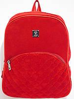 Рюкзак замшевый красный, фото 1