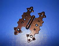 Петля мебельная «Бабочка» коричневая