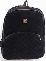 Рюкзак замшевый черный