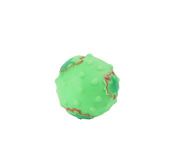 Игрушка для собак FOX виниловая мяч с кленовым листом, 8 см