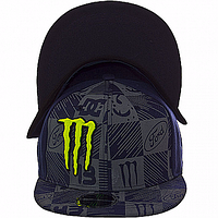 Бейсболка козырек темно-синяя Monster