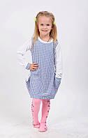 Модное трикотажное детское платье-туника