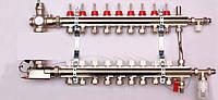 Колектор luxor для теплої підлоги без насоса на 9 виходів