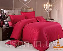 Постельное белье страйп сатин love you красный двуспальный евро размер