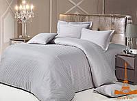 Комплект постельного белья страйп сатин love you  двуспальный евро размер