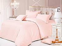 Комплект постельного белья из натурального сатина love you  двуспальный евро размер