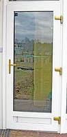 """Дверь металлопластиковая 750*2100 Wintech 4-камерный,тонировка """"Бронза"""""""