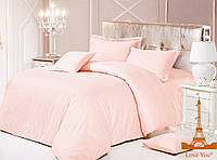 Комплект постельного белья из натурального сатина love you  полуторный размер
