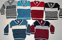 Полосатый вязаный свитер 3-5 лет