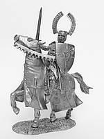 Оловянная миниатюра. Оловянный солдатик. Ландмейстер Тевтонского ордена, 13 в.