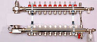 Колектор luxor для теплої підлоги без насоса на 10 виходів
