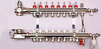 Колектор luxor для теплої підлоги без насоса на 8 виходів