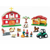 Ферма домик с трактором и животными детский игровой набор Keenway 30824