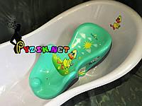 Горка для купания ребенка нескользящая на присосках (Польша) бирюзовая