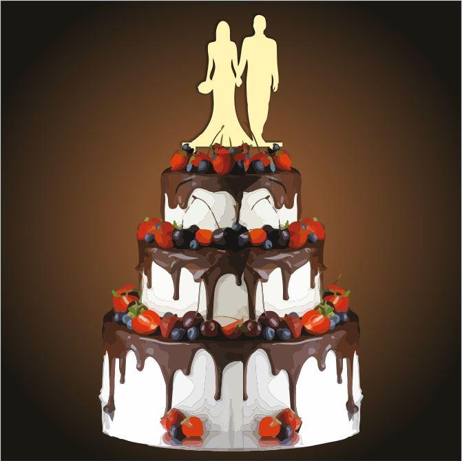 Топпер свадебный молодожены