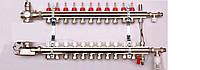 Колектор luxor для теплої підлоги без насоса на 11 виходів