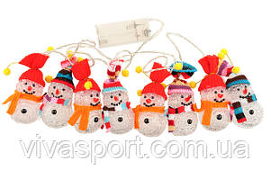 Новогодняя светодиодная гирлянда Снеговички