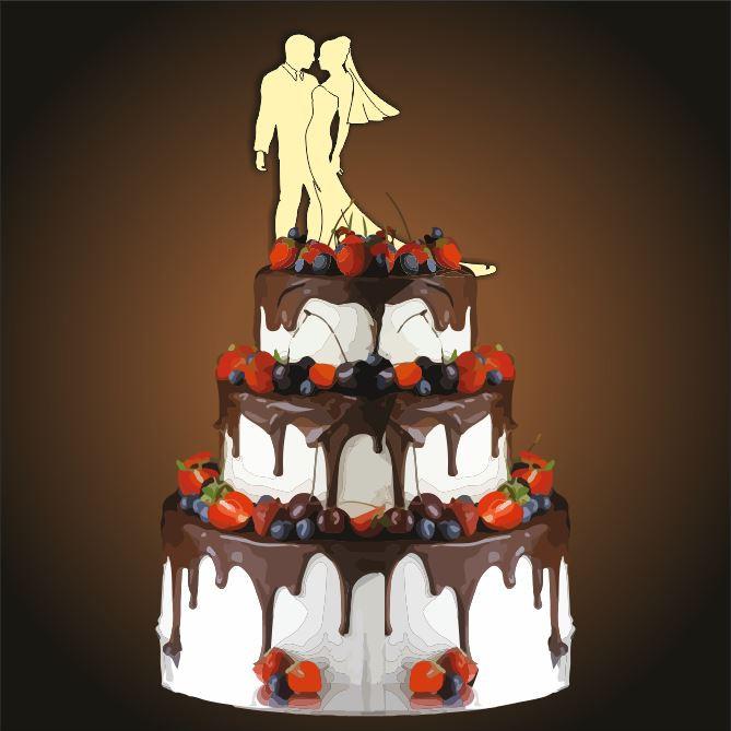 Топпер свадебный Пара