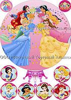 Печать съедобного фото - Ø21 - Вафельная бумага - Принцессы №19