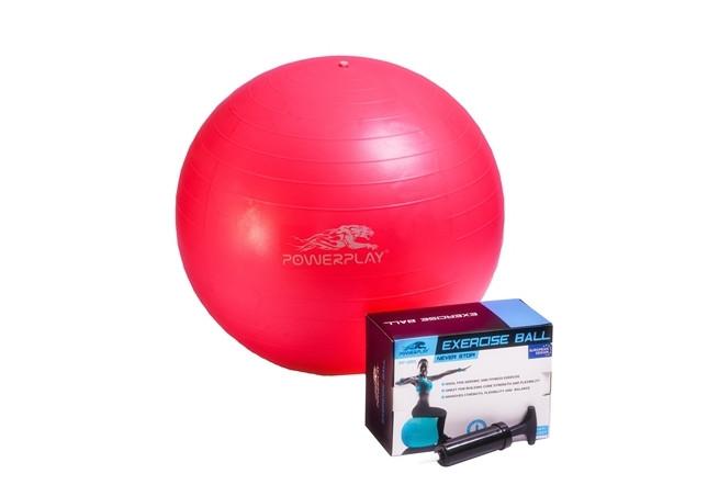М'яч гімнастичний + насос Power Play 4001