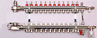 Колектор luxor для теплої підлоги без насоса на 12 виходів
