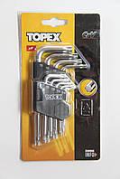 Набор ключей TORX T10-T50. 9 шт. TOPEX 35D960