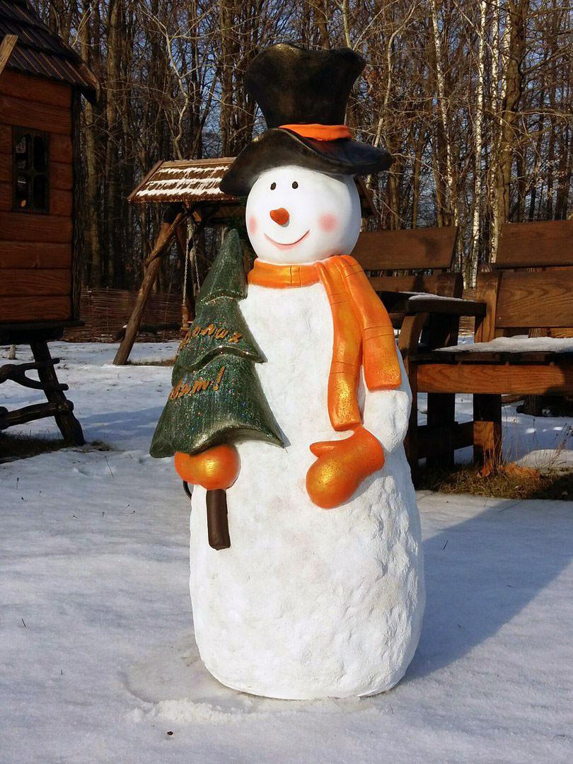 "Снеговик с елкой ""Веселих свят"" 95см"