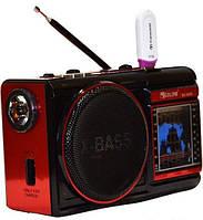 Радиоприемник аккумуляторный GOLON RX-9009 USB/SD/FM + фонарь