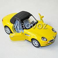 Машинка BMW Z8 метал 1:36 желтая