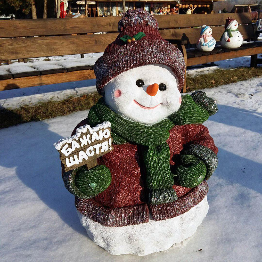Снеговик большой 83см
