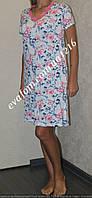 Ночная рубашка женская из вискозы увеличенных размеров