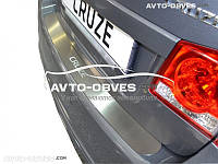 Накладка на задний бампер Chevrolet Cruze 4D 2009-2016 без загиба