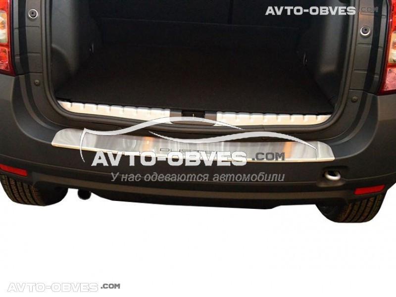 Накладка на бампер с загибом для Renault Duster 2010-2017