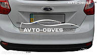 Накладка на бампер с загибом для Ford Focus III 5D 2011-2016