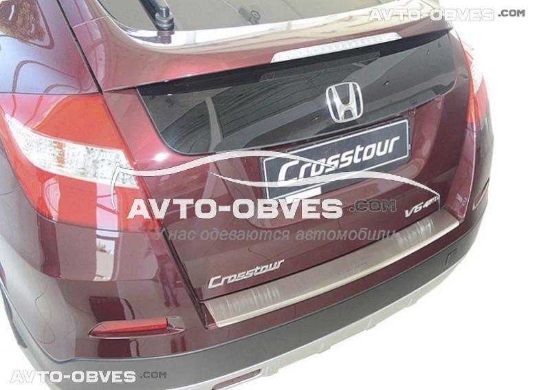 Накладка на бампер с загибом для Honda Crosstour