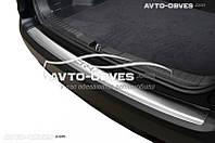 Накладка на задний бампер с загибом для Honda CR-V IV 2013 - 2016