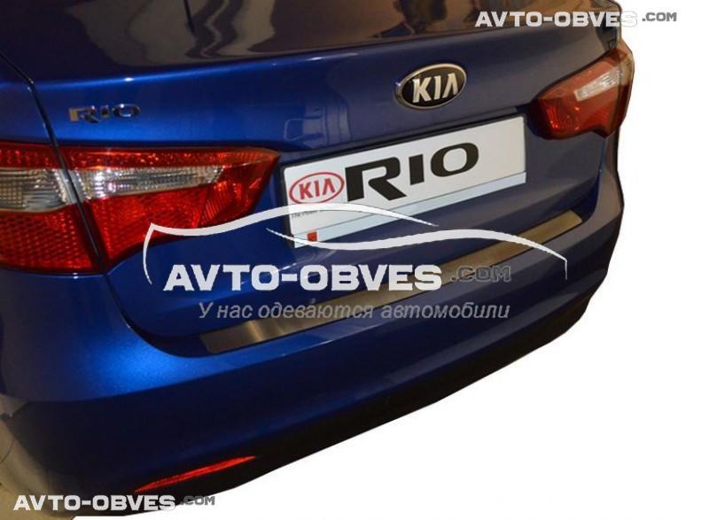 Накладка на задний бампер Kia RIO III 4D 2011-2016 без загиба