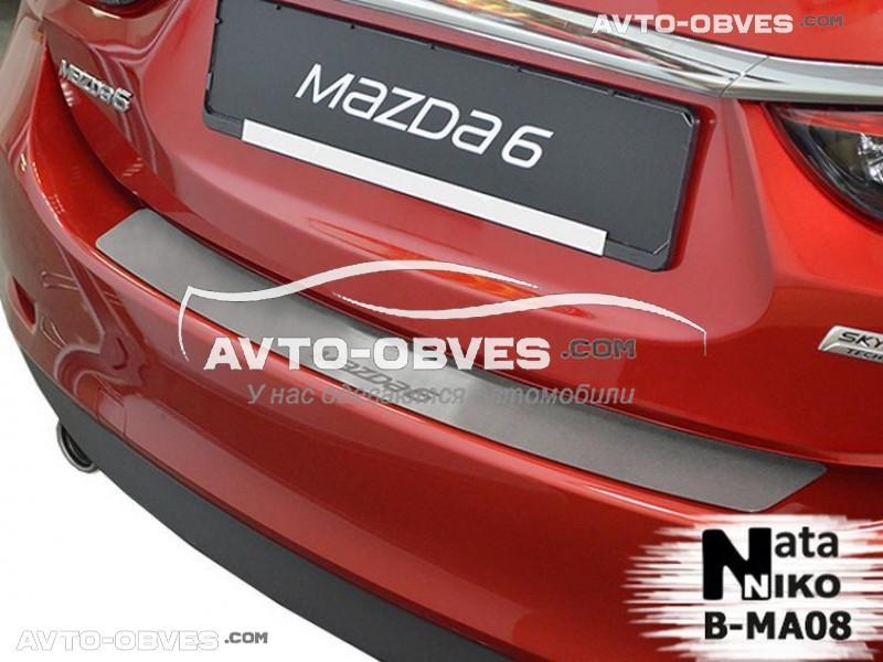 Накладка на задний бампер Mazda 6 III 2013-2017 без загиба