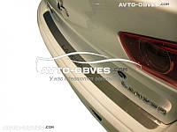 Накладка на задний бампер Mitsubishi Lancer X 4D 2007 - 2016 без загиба