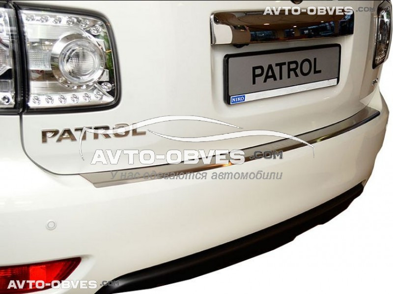 Накладка на бампер с загибом для Nissan Patrol 2010-2016