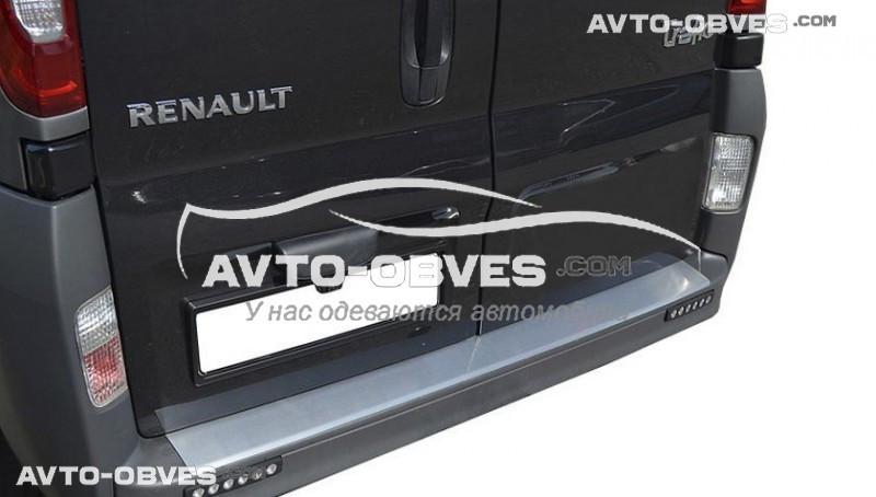 Накладка на бампер с загибом для Renault Trafic