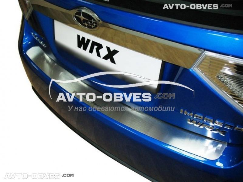 Накладка на задний бампер Subaru Impreza III 2007 - 2011 без загиба