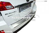 Накладка на бампер с загибом для Subaru Outback 2009 - 2014