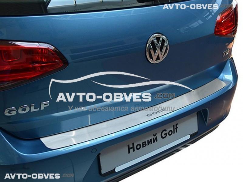 Накладка на задний бампер VW GOLF VII без загиба