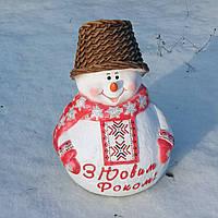 """Снеговик в вышиванке """"З новим Роком"""""""