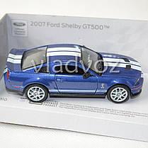 Машинка 2007 Ford Shelby GT500 метал 1:36 синяя, фото 2