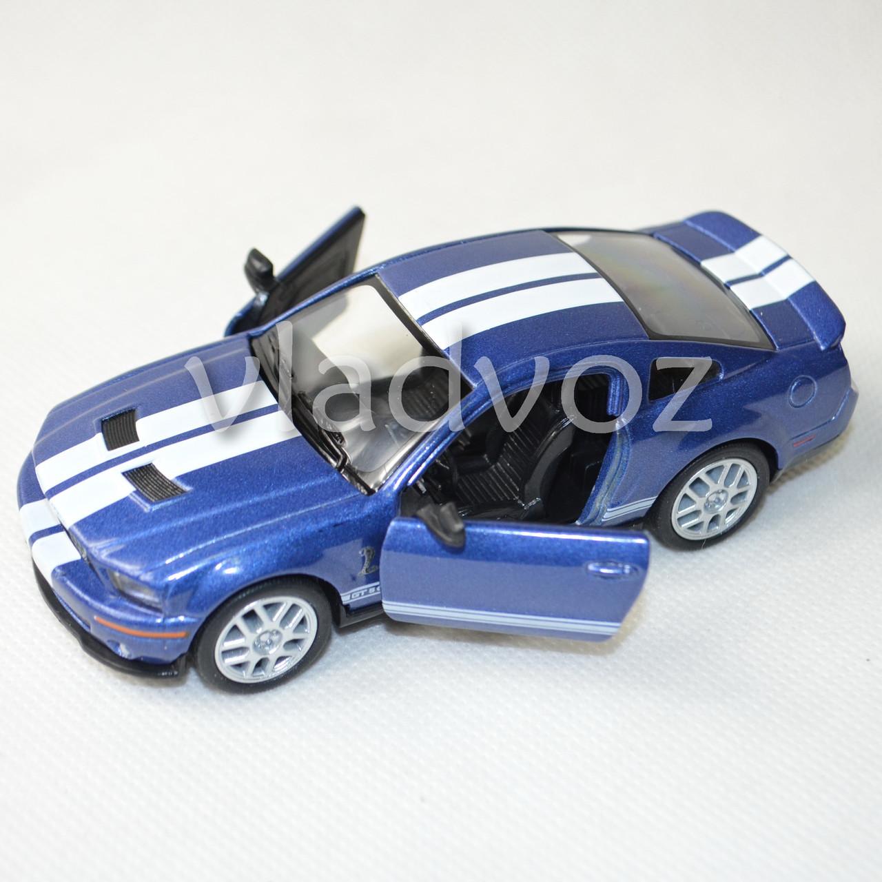 Машинка модель из металла Ford Shelby GT500 метал 1:32 синего цвета