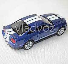 Машинка 2007 Ford Shelby GT500 метал 1:36 синяя, фото 3